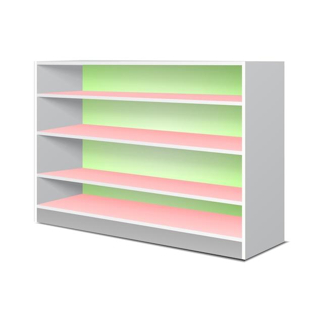 Mostra scaffali e scaffali per articoli Vettore Premium