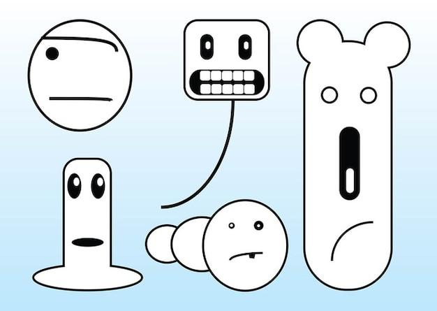 Mostri divertente cartone animato scaricare vettori gratis