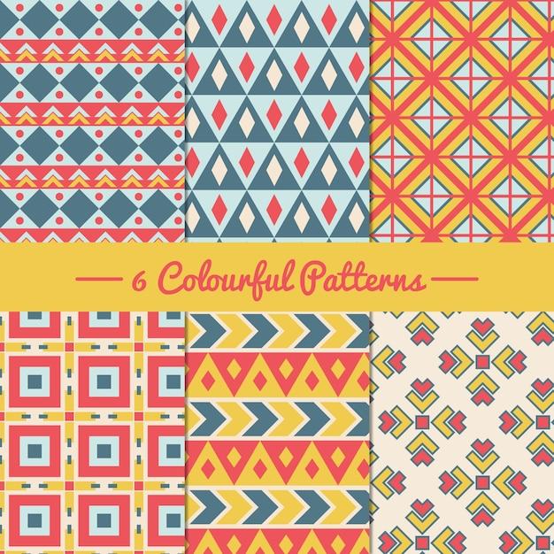 Motivi geometrici colorati Vettore gratuito