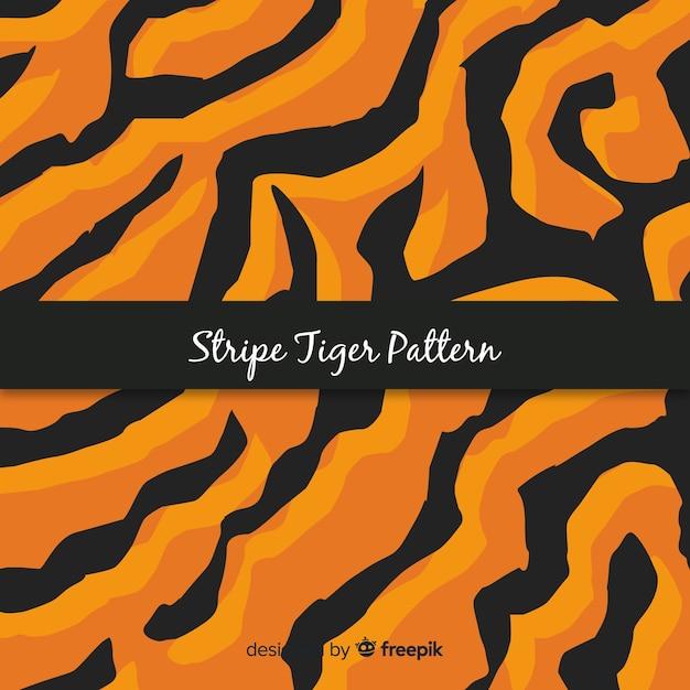 Motivo a strisce tigre Vettore gratuito