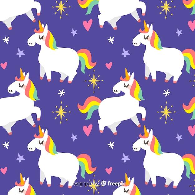 Motivo a unicorno Vettore gratuito