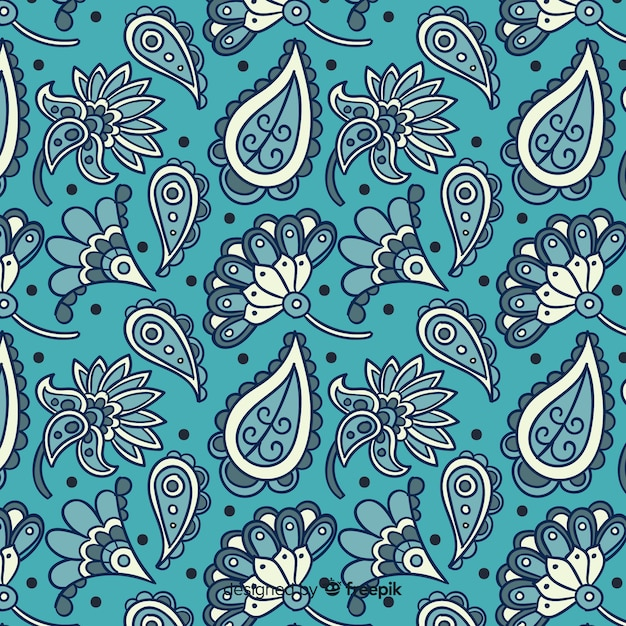 Motivo floreale batik Vettore gratuito