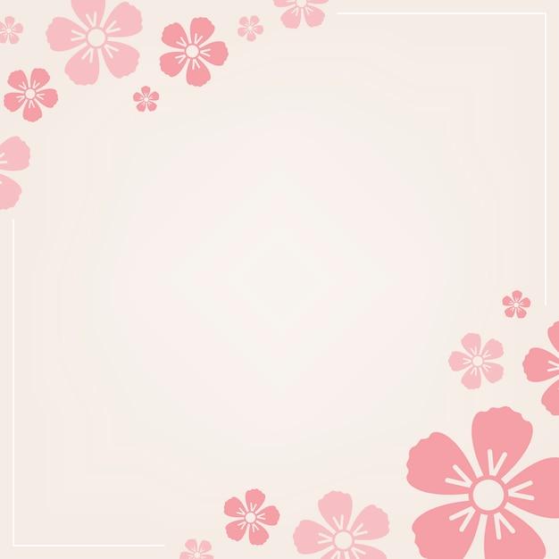 Motivo floreale rosa Vettore gratuito