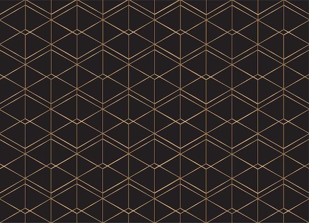 Motivo geometrico. linee dorate. Vettore Premium