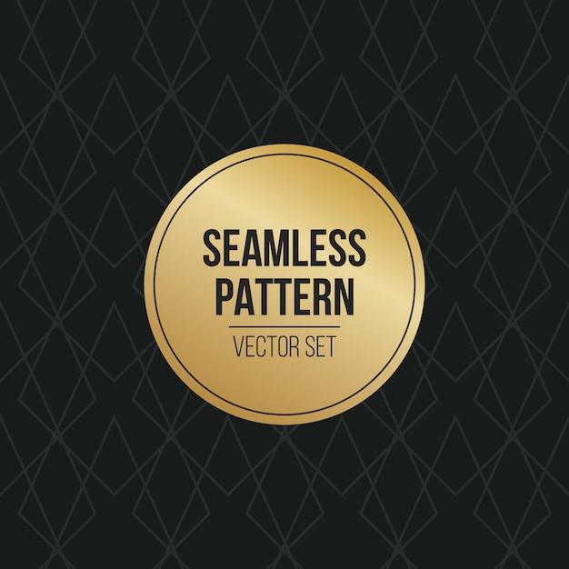 Motivo geometrico monocromatico Vettore Premium