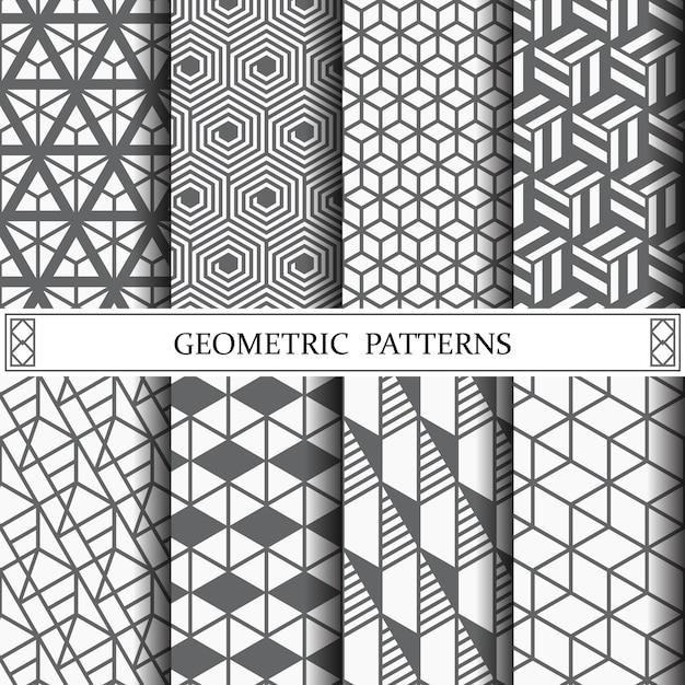 Motivo geometrico per lo sfondo della pagina web o texture di superficie Vettore Premium