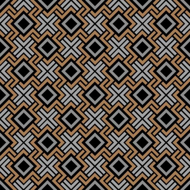Motivo geometrico senza soluzione di continuità in stile celtico Vettore Premium