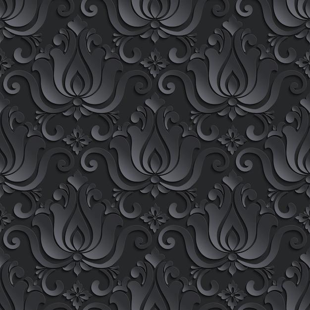 Motivo ornamentale in stile damascato Vettore gratuito
