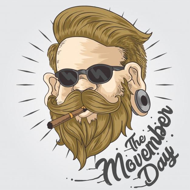 Movember blondee Vettore Premium