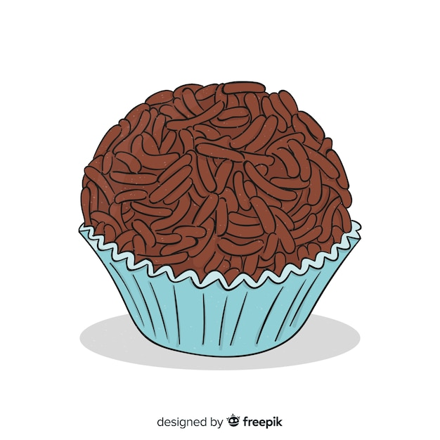 Muffin al cioccolato disegnati a mano Vettore gratuito