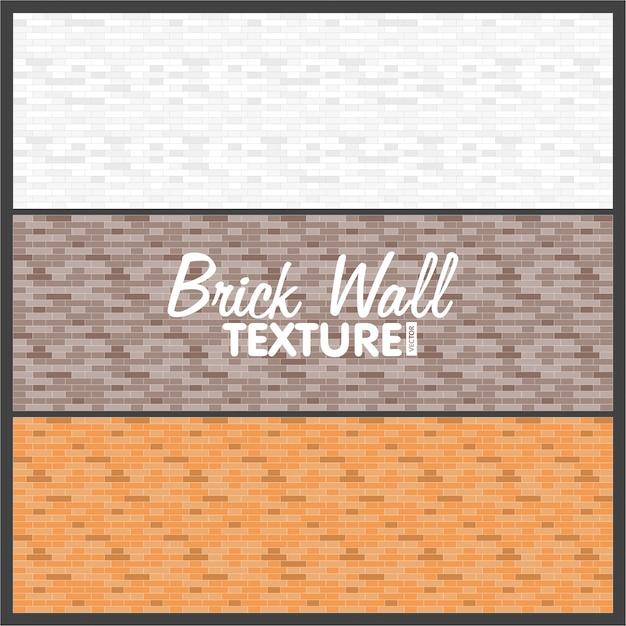 Muro di mattoni texture di sfondo. Vettore Premium