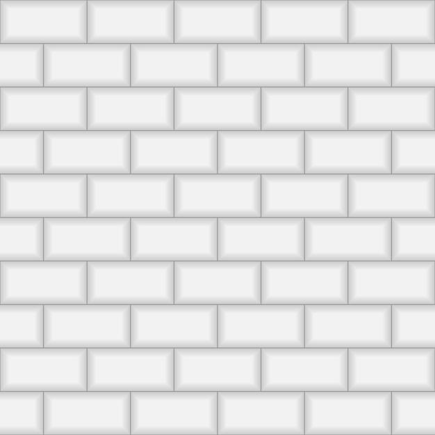 Muro di piastrelle di mattoni del sottopassaggio. Vettore Premium