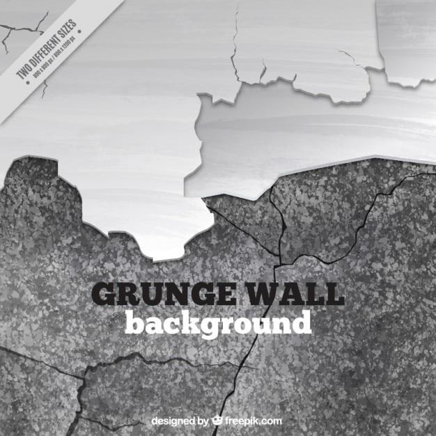 Muro rotto in bianco e nero Vettore gratuito