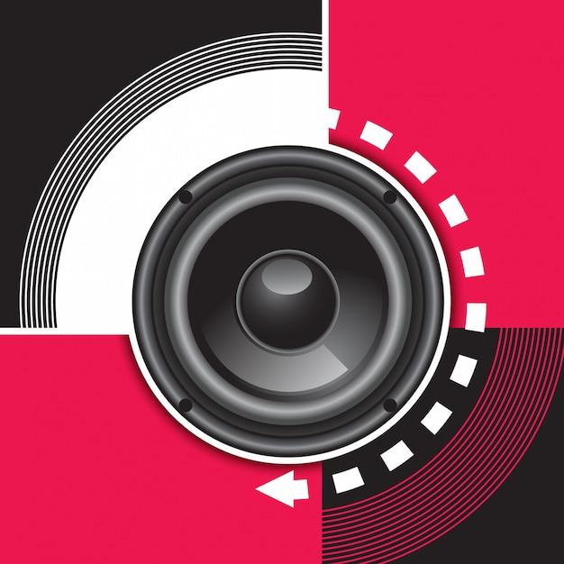 Musica di sottofondo Vettore Premium