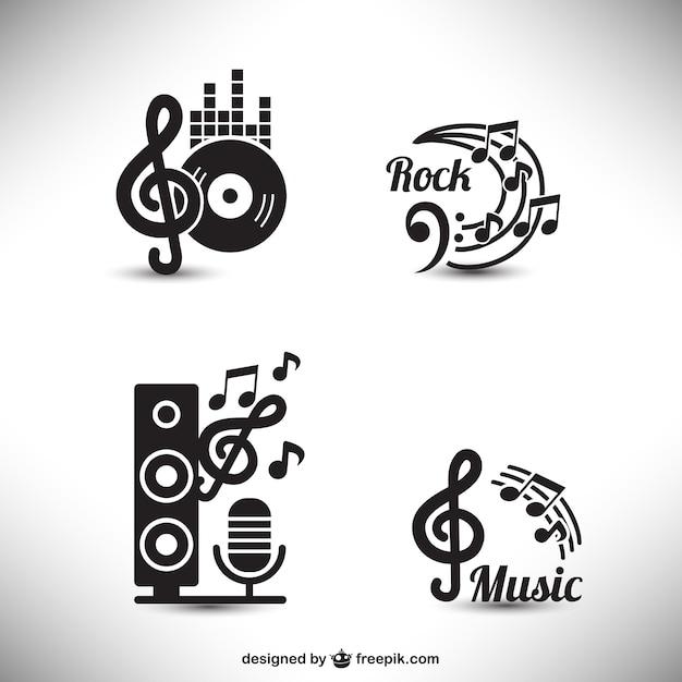 Musica elementi grafici Vettore gratuito
