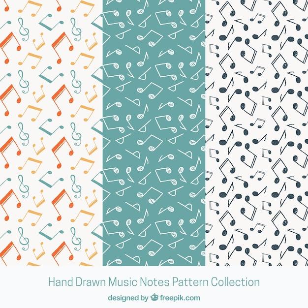 Musica In Bianco E Nero Note Pattern Di Sfondo Scaricare Vettori