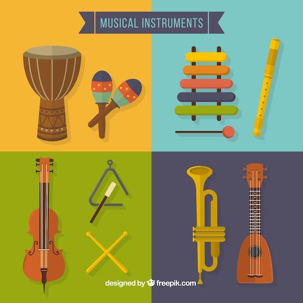 Musica strumento di raccolta Vettore gratuito