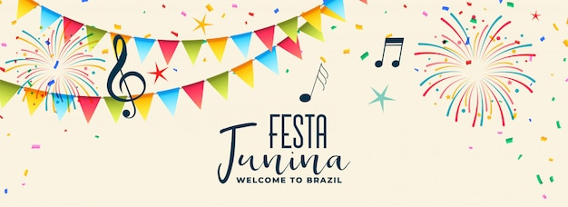 Musical festca junina design colorato Vettore gratuito
