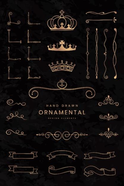 Nastri e divisori ornamentali Vettore gratuito