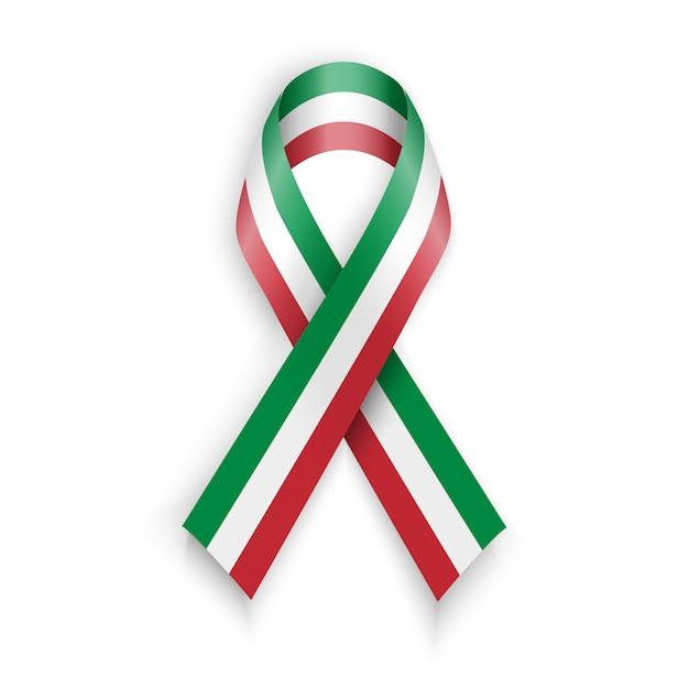 Nastro con bandiera italiana. Vettore Premium