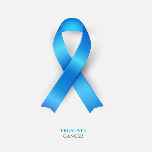Nastro di seta blu - consapevolezza del cancro alla prostata Vettore Premium