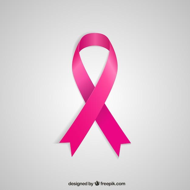 Nastro rosa per il cancro al seno Vettore gratuito