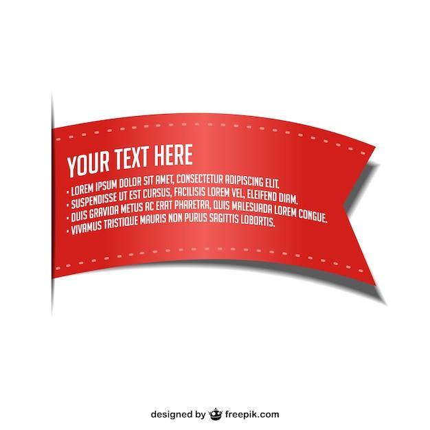 Nastro rosso vettore Vettore gratuito