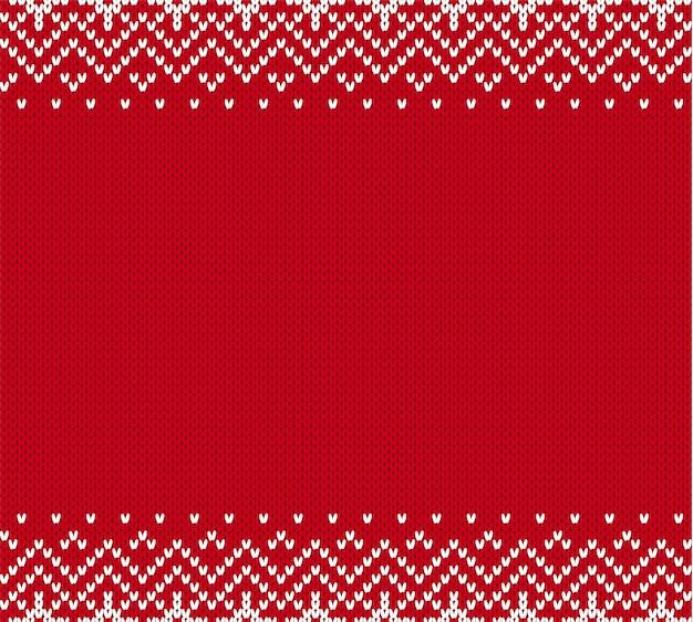Natale a maglia ornamento geometrico Vettore Premium