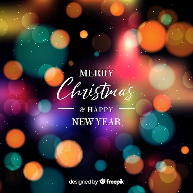 Natale e anno nuovo sfondo Vettore gratuito