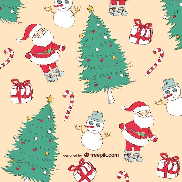 Amato Natale vintage pattern   Scaricare vettori gratis OA61