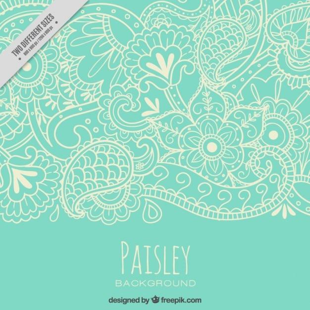 natura Sketches paisley pattern Vettore Premium