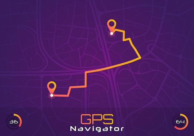 Navigazione gps Vettore Premium