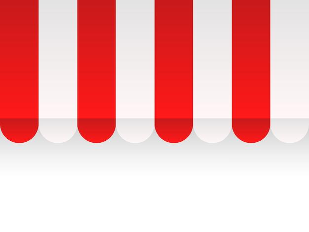 Negozio a baldacchino senza cuciture sfondo vettoriale negozio di copertura Vettore Premium