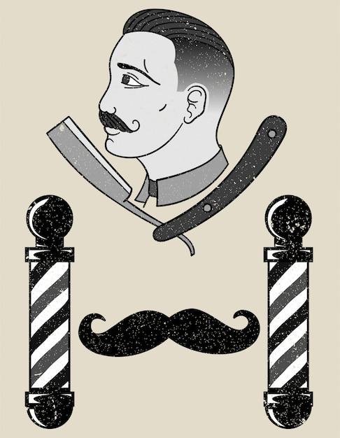 Negozio di barbiere Vettore Premium