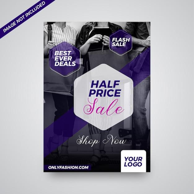 half off 9f2d3 b762c Negozio di moda online migliore mai in vendita design flyer ...