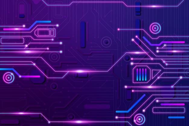 Neon del circuito del fondo Vettore gratuito