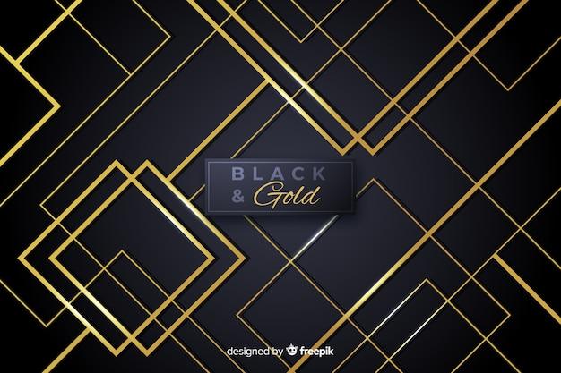 Nero e oro sfondo astratto Vettore gratuito