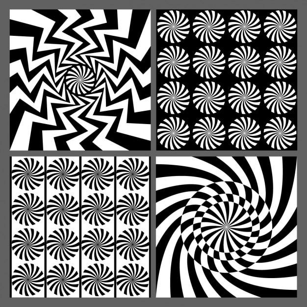 Nero elementi geometrici grafici Vettore gratuito
