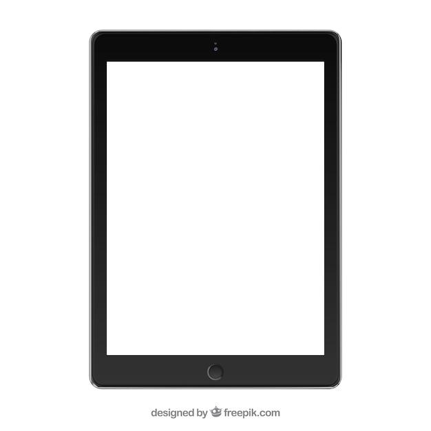 Nero tablet mockup Vettore gratuito