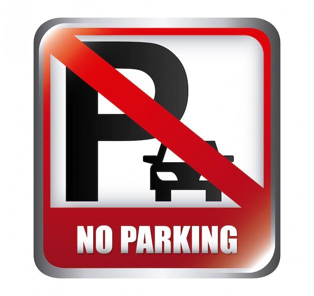 Nessun parcheggio design Vettore gratuito