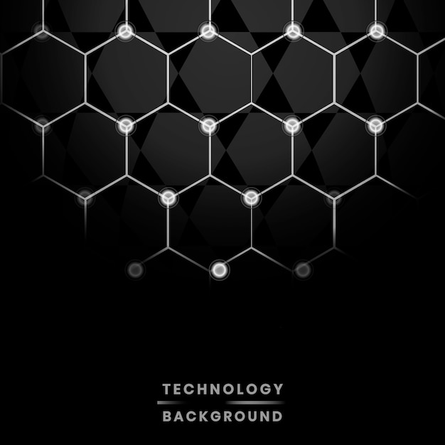 Network e background tecnologico Vettore gratuito