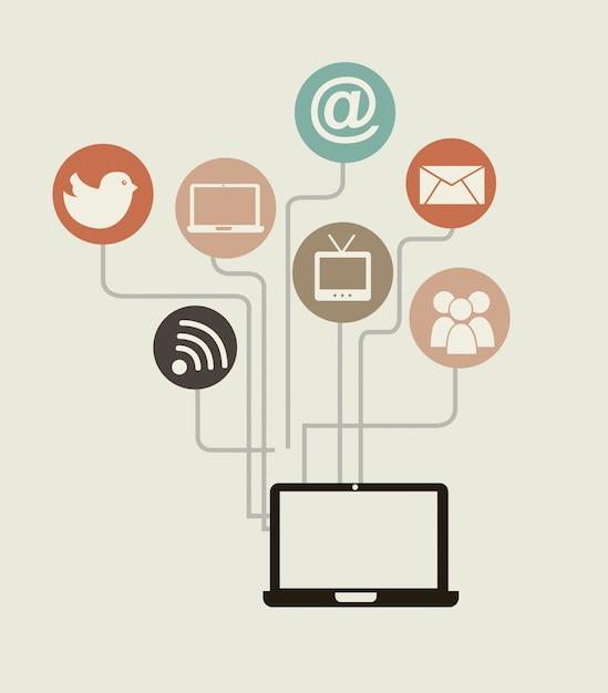 Networking Vettore gratuito