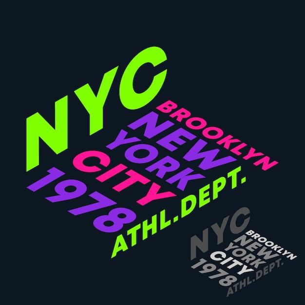 New york city, lettering Vettore Premium