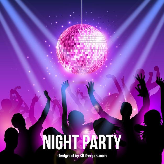 Night party Vettore gratuito