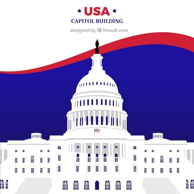 Noi edificio congressuale con design piatto Vettore gratuito