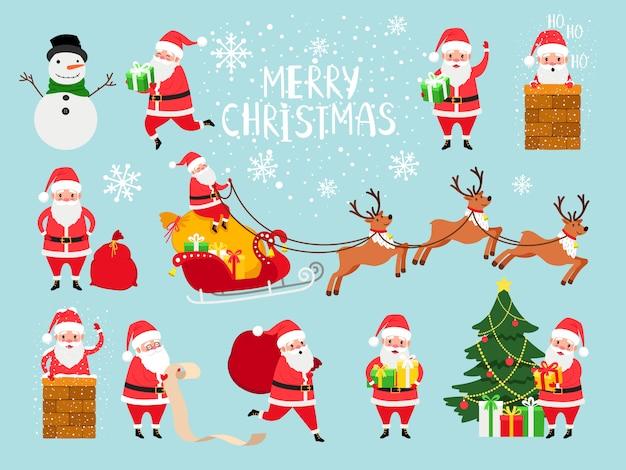 Sito Di Babbo Natale.Nonno Sveglio Del Babbo Natale Di Vettore Per La Decorazione Del Sito Web Di Natale Vettore Premium