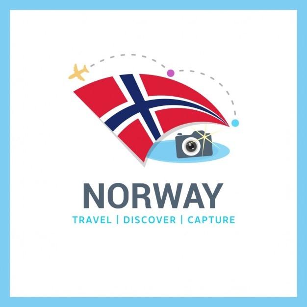Norvegia fotografo logo Vettore gratuito