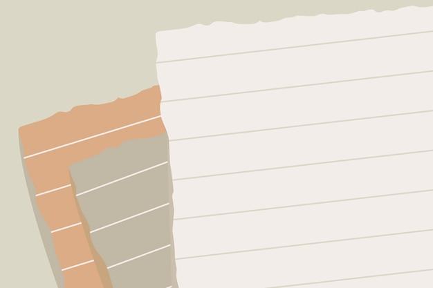 Nota di carta strappata Vettore gratuito