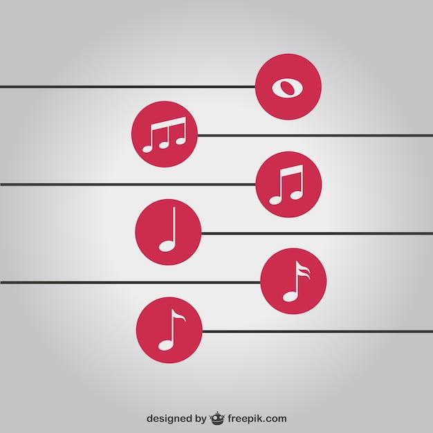 Note di musica semplice sfondo libero scaricare vettori for Semplice creatore di piano gratuito