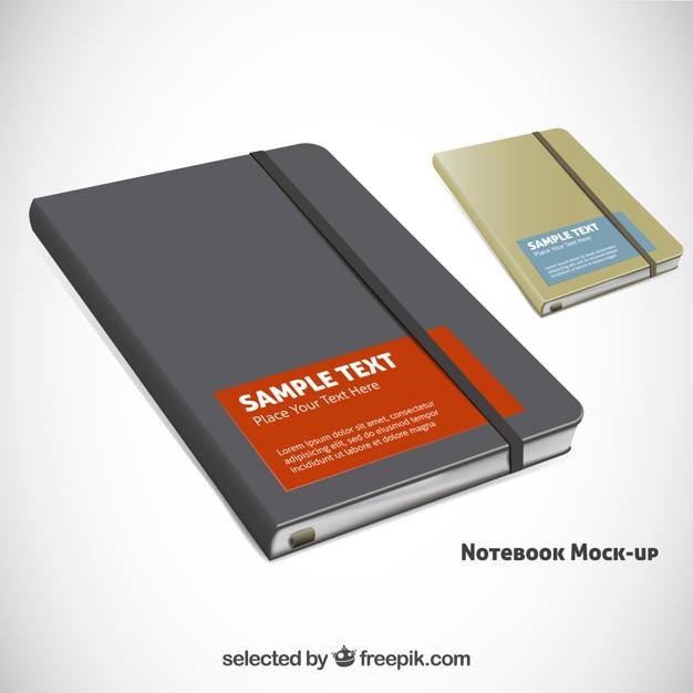 Notebook realistici Vettore gratuito